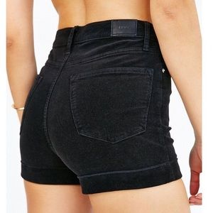 BDG black corduroy high waisted shorts